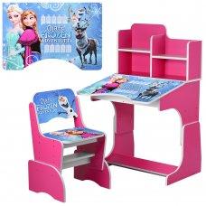 Детская парта-трансформер со стульчиком Frozen W 2071-69-6 малиновый