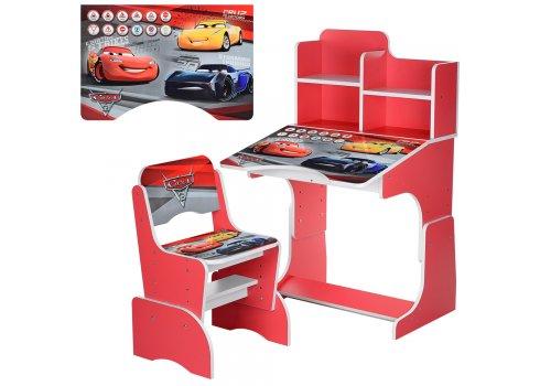 Детская парта-трансформер со стульчиком Тачки Bambi W 2071-70-3 красный