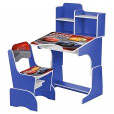 Детская парта-трансформер со стульчиком Тачки W 2071-70-4 синий