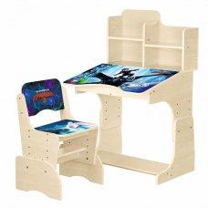 Детская парта-трансформер со стульчиком Как приручить дракона, W 2071-71-1 венге
