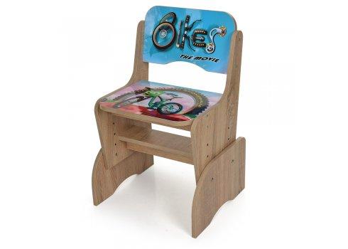 Детская парта-трансформер со стульчиком Bikes, W 2071-73-1 дерево