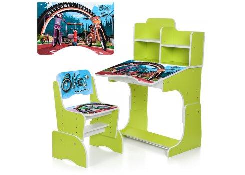 Детская парта-трансформер со стульчиком Bikes W 2071-73-2 лайм