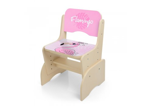 Детская парта-трансформер со стульчиком Фламинго W 2071-74-1(UA) венге светлый