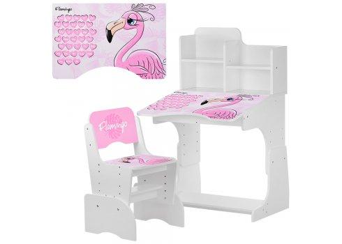 Детская парта-трансформер со стульчиком Фламинго W 2071-74-2 белый