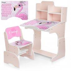 Детская парта-трансформер со стульчиком Фламинго W 2071-74-3 розовый