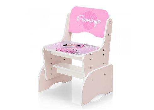 Детская парта-трансформер со стульчиком Фламинго W 2071-74-3 (UA) розовый