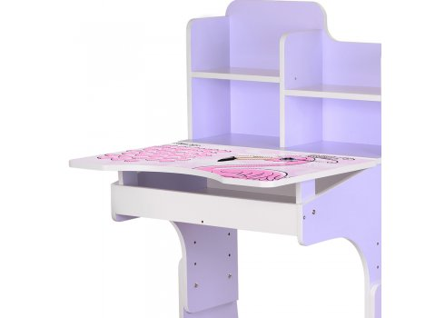 Детская парта-трансформер со стульчиком Фламинго Bambi W 2071-74-4(UA) сиреневый