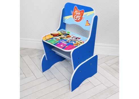 Детская парта-трансформер со стульчиком 44 котенка Bambi W 2071-77-2 синий