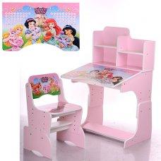 Детская парта-трансформер со стульчиком, W 2071-8-3 розовая