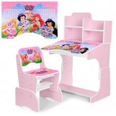 Детская парта-трансформер со стульчиком Принцессы Disney W 2071-8-3 (UA-RU) розовый