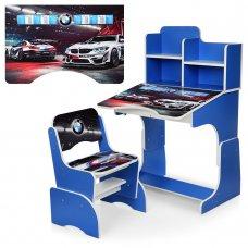 Детская парта-трансформер со стульчиком машина BMW Bambi W 2071-84-2 синий