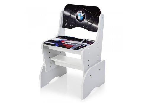 Детская парта-трансформер со стульчиком машина BMW Bambi W 2071-84-5 серый