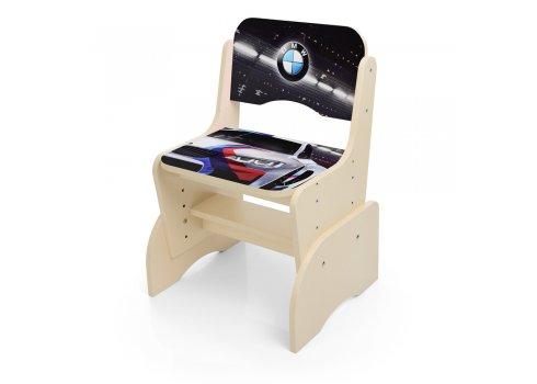 Детская парта-трансформер со стульчиком машина BMW Bambi W 2071-84-6 венге