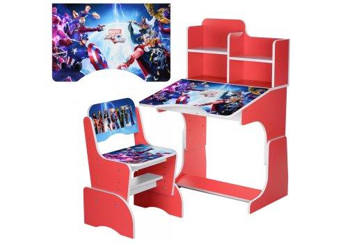 Детская парта-трансформер со стульчиком Marvel Bambi W 2071-85-3 красный