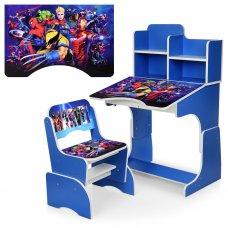 Детская парта-трансформер со стульчиком Marvel Bambi W 2071-86-2 синий