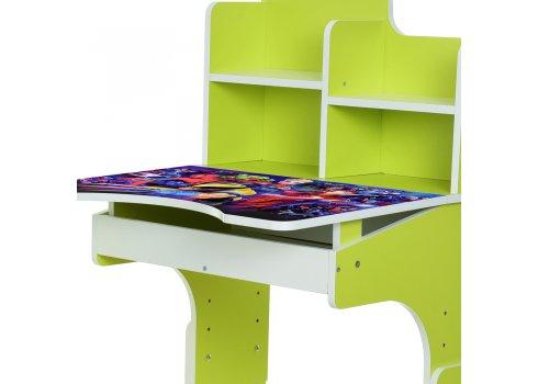 Детская парта-трансформер со стульчиком Marvel Bambi W 2071-86-5 лайм