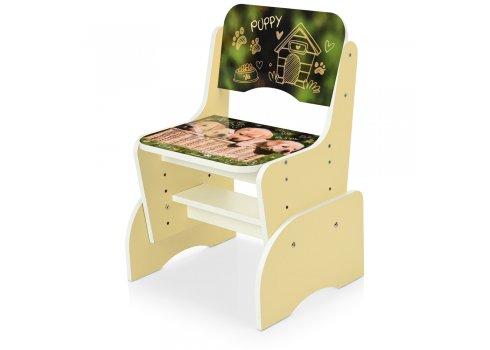Детская парта-трансформер со стульчиком Щенки Bambi B 2071-89-2(EN) ваниль
