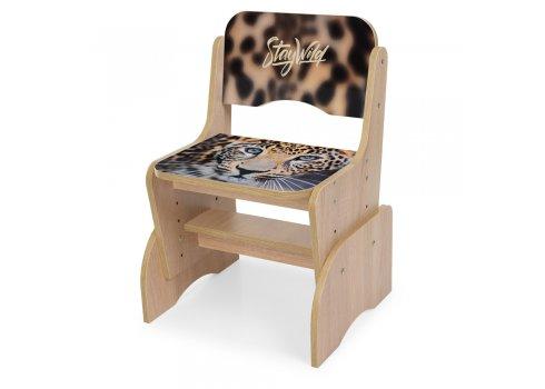 Детская парта-трансформер со стульчиком Леопард Bambi B 2071-92-3(EN) дуб сонома