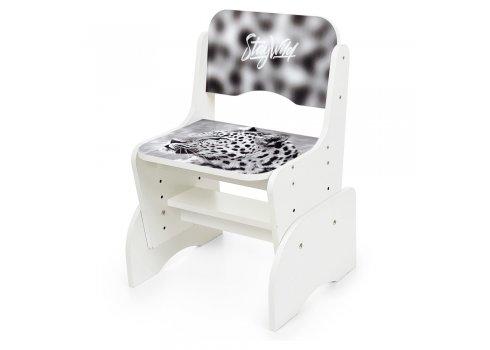 Детская парта-трансформер со стульчиком Леопард Bambi B 2071-93-1(EN) белый