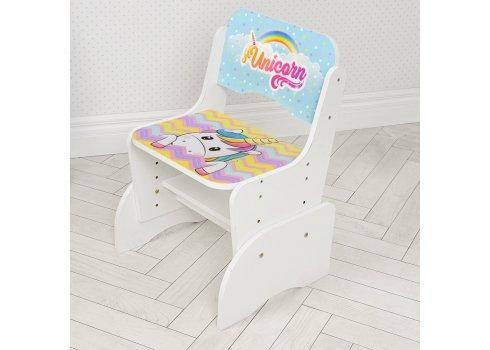 Детская парта-трансформер со стульчиком Единорог Bambi W 2071-95-1(UA) белый