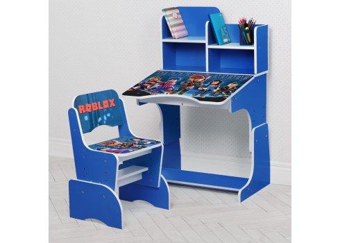 Детская парта-трансформер со стульчиком Roblox Bambi W 2071-96-5 синий