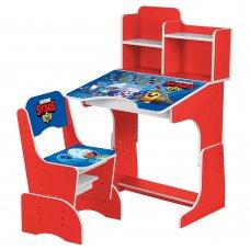 Детская парта-трансформер со стульчиком Brawl Stars Bambi W 2071-97-1(UA) красный