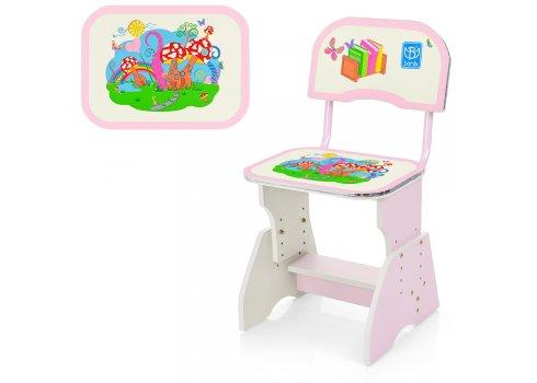 Детская парта со стульчиком Растишка, HB-2071(2)-02-7 розовый