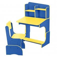 Детская парта-трансформер со стульчиком, F 2071A-4-6 синий с желтым