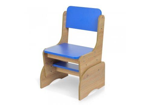 Детская парта-трансформер со стульчиком, F 2071A-4 дерево с синим