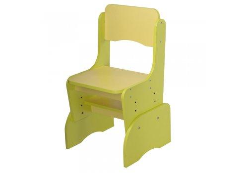 Детская растущая парта со стульчиком Bambi F 2071A-6-5 желтый с салатовым