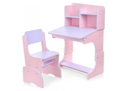 Детская парта-трансформер со стульчиком, F 2071A-8-9 сиреневый с розовым