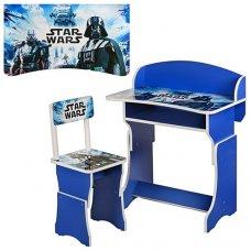 Детская парта со стульчиком, регулируемая высота, 301-17 синий