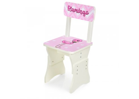 Детская парта со стульчиком Фламинго, высота регулируется, Bambi HB-301-71