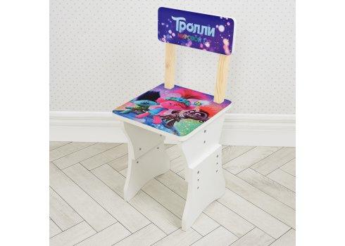 Детская парта со стульчиком Тролли, высота регулируется, Bambi HB-301-83
