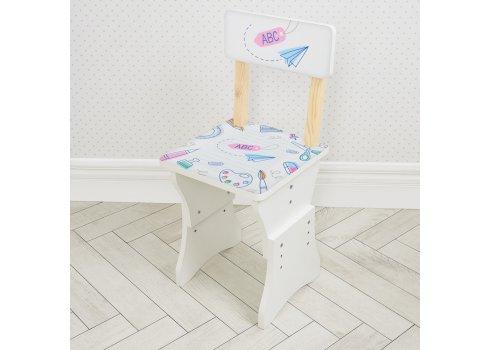 Парта детская со стульчиком Алфавит, высота регулируется, Bambi HB-301-86