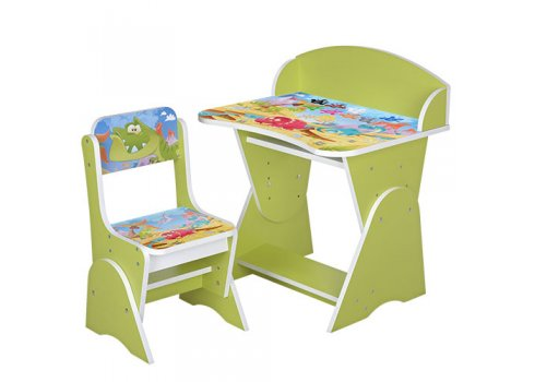 Детская парта-трансформер со стульчиком Дино, ML-315-05-2 салатовая