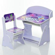 Детская парта-трансформер со стульчиком My Little Pony, ML-315-24-2 фиолетовый