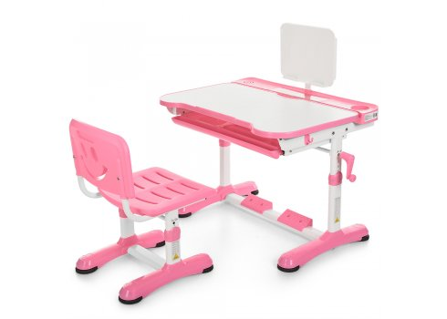 Детская парта и стульчик «Растишка» (комплект-трансформер) Bambi M 3823-8 розовая
