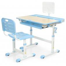 Школьная парта-растишка и стул Bambi M 3823A(2)-4 синий