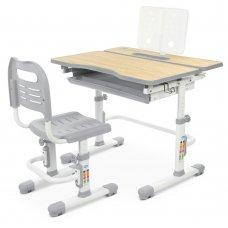 Комплект-трансформер парта и стул Bambi M 4253-11 серый