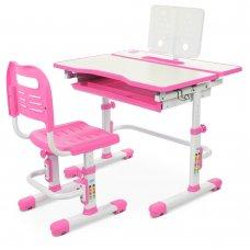 Комплект-трансформер парта и стул Bambi M 4253-8 розовый