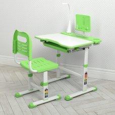 Парта школьная BAMBI M 4428-5 регулируемая со стулом и LED лампой зеленый
