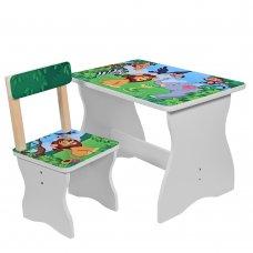 Детский столик со стульчиком Зоопарк, 504-11