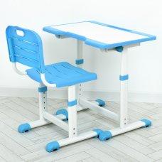 Детская парта железная со стулом A60-4 синий