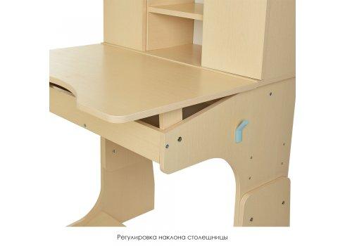 """Детская парта """"Растишка"""" с ящиком и шкафчиком, Bambi W 903-10-2 венге с мятным"""
