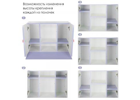"""Детская парта """"Растишка"""" с ящиком и шкафчиком Bambi W 903-6"""