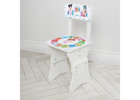 Детская парта со стульчиком Растишка BAMBI Одежда 904-105 белый