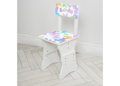 Детская парта со стульчиком Растишка BAMBI Бабочки 904-114 белый