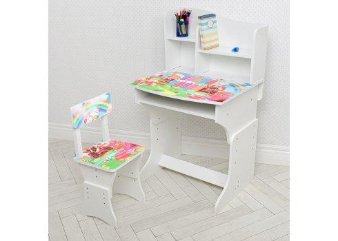 Детская парта со стульчиком Растишка BAMBI Конфетки 904-139 белый