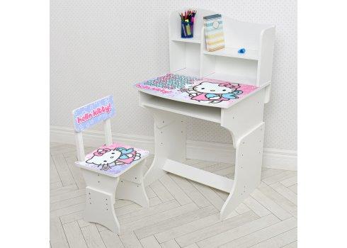 Детская парта со стульчиком Растишка BAMBI Hello Kitty 904-142 белый